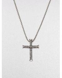 Stephen Webster | Metallic Silver Cross Pendant | Lyst
