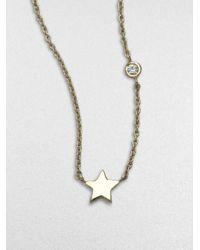 Sydney Evan | Metallic Mini Star 14k Gold Necklace | Lyst