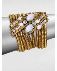 Aerin Erickson Beamon | Metallic Blue Agate Multichain Bracelet | Lyst