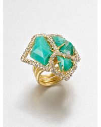 Alexis Bittar | Green Chrysoprase Cluster Ring | Lyst
