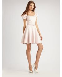 Dior | Pink Puff Sleeve Dress | Lyst