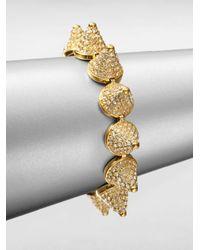 Eddie Borgo | Metallic Pavé Crystal Cone Bracelet/goldtone | Lyst