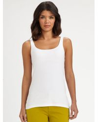 Eileen Fisher | White System Organic Cotton Tank Top | Lyst
