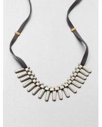 Etten Eller | Metallic Fan Necklace for Men | Lyst