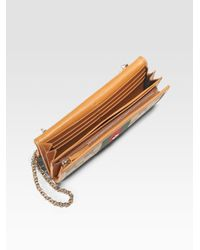 Gucci - Brown Heritage Chain Wallet - Lyst