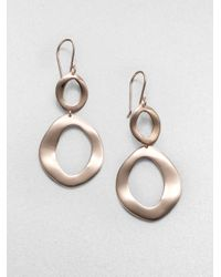 Ippolita | Metallic Rosé Open Oval Snowman Earrings | Lyst
