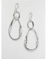 Ippolita - Metallic Sterling Silver Twisted Loop Earrings - Lyst