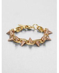 Joomi Lim | Pink Twotone Doublespiked Bracelet | Lyst