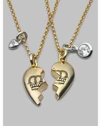Juicy Couture - Metallic Best Friends Forever Necklace - Lyst