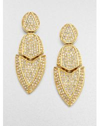 Kara Ross | Metallic Artemis Sparkle Drop Earrings | Lyst