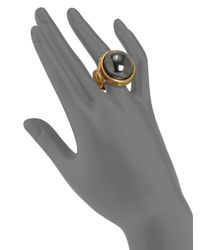 Kara Ross - Metallic Hematite Dome Cabochon Ring - Lyst