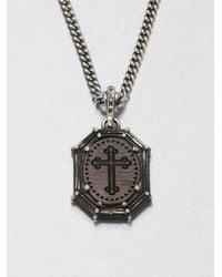 King Baby Studio | Metallic Cross Frame Pendant Necklace | Lyst