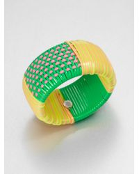 Marc By Marc Jacobs | Multicolored Woven Wide Bangle Bracelet Green | Lyst