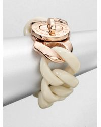 Marc By Marc Jacobs | White Chain Link Turnlock Bracelet | Lyst