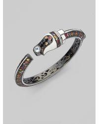 M.c.l  Matthew Campbell Laurenza - Metallic Blue Topaz Sapphire Sterling Silver Art Deco Bracelet - Lyst