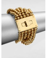 Michael Kors - Metallic Multistrand Turnlock Bracelet - Lyst