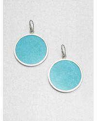 Michael Kors | Blue Slice Drop Earrings | Lyst