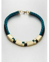 Orly Genger By Jaclyn Mayer - Blue Multirow Rope Necklace - Lyst