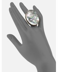 Stephen Dweck - Gray Abalone Oval Ring - Lyst