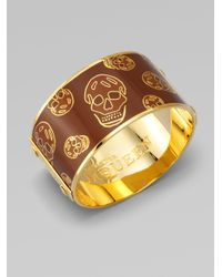 Alexander McQueen | Green Largeskull Cuff Bracelet | Lyst