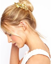ASOS Collection | Yellow Stone Hair Brooch | Lyst