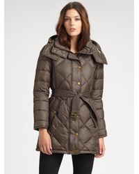 Burberry Brit | Brown Eddingly Hooded Puffer Jacket | Lyst