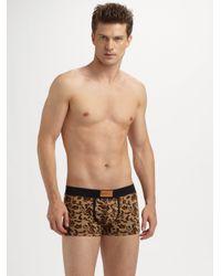 DIESEL - Green Leopard Boxers for Men - Lyst