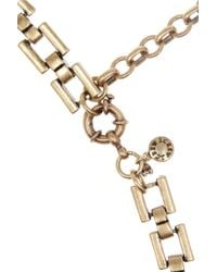 J.Crew - Metallic Station Agent Goldplated Crystal Necklace - Lyst