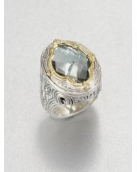 Konstantino | Metallic Astritis Prasiolite, 18k Yellow Gold & Sterling Silver Ring | Lyst