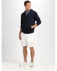 Michael Kors - Blue Zip Cashmere-cotton Hoodie for Men - Lyst