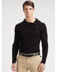 Ralph Lauren Black Label | Black Turtleneck Button Sweater for Men | Lyst