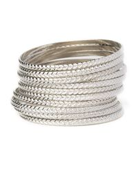 BaubleBar - Metallic Braid Bangle Set - Lyst