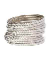 BaubleBar | Metallic Braid Bangle Set | Lyst