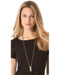 Citrine by the Stones - Metallic Sio Small Pendant Necklace - Lyst