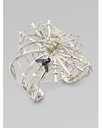 Delfina Delettrez - Metallic Sterling Silver Spider Cuff - Lyst