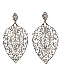 Loree Rodkin | Gray Leaf White Gold, Black Rhodium And Diamond | Lyst