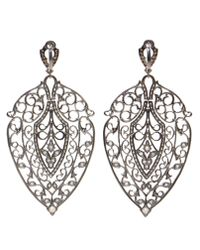 Loree Rodkin | Gray Leaf White Gold, Black Rhodium And Diamond | Lyst