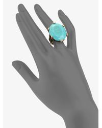 Stephen Dweck | Blue Turquoise Floral Ring | Lyst