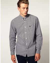 Fred Perry | Black Classic Gingham Shirt for Men | Lyst