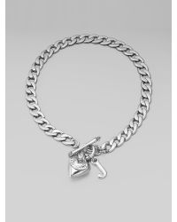 Juicy Couture - Metallic Starter Charm Necklacesilver - Lyst