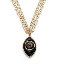 Kara Ross - Black Evil Eye Pendant Necklace - Lyst