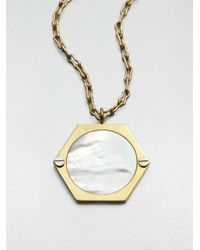 Kelly Wearstler | Metallic Motherofpearl Spyglass Pendant Necklace | Lyst