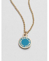 Marc By Marc Jacobs - Metallic Enamel Logo Pendant Necklace - Lyst