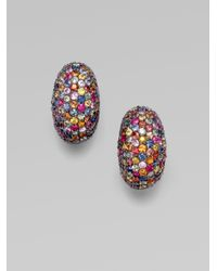 M.c.l  Matthew Campbell Laurenza - Multicolored Sapphire PavÉ Oval Clip-On Earring - Lyst