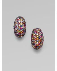 M.c.l  Matthew Campbell Laurenza | Multicolored Sapphire PavÉ Oval Clip-On Earring | Lyst