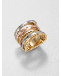 Michael Kors - Multicolor Tri-tone Twisted Ring - Lyst