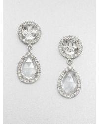 Mija - Metallic White Sapphire Teardrop Earrings - Lyst