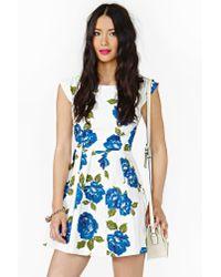 Nasty Gal - Multicolor Feeling Blue Dress - Lyst