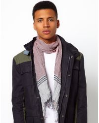 Pepe Jeans - Red Pepe Checked Scarf for Men - Lyst