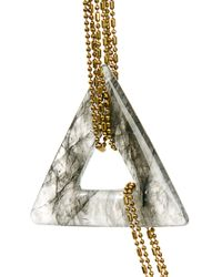 Sam Ubhi - White Chunky Agate Necklace - Lyst